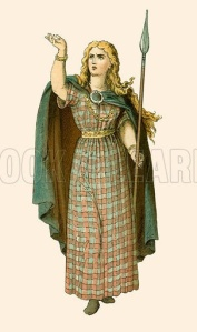 Artist concept of what Boudicca might have looked like.