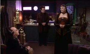 Majel Barrett guest stars on Babylon 5